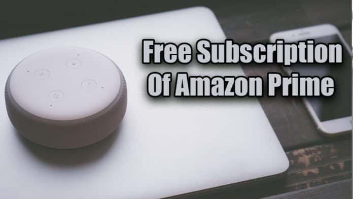 Free Subscription Of Amazon Prime