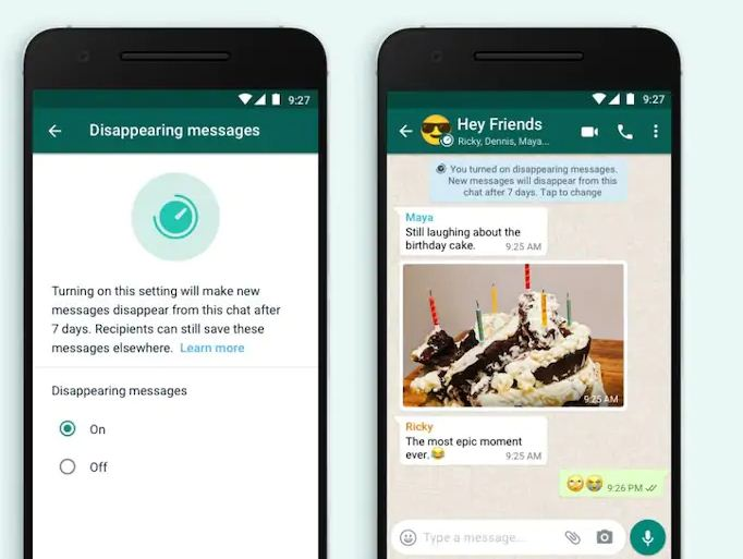 """Whatsapp Launches """"Disappearing Message feature"""""""