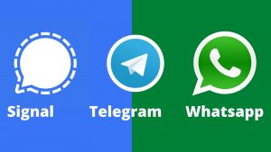 Signal, Telegram, Whatsapp